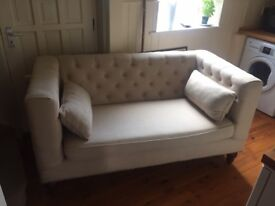 2 Seater Chesterfield Sofa in Taupe Linen from MADE
