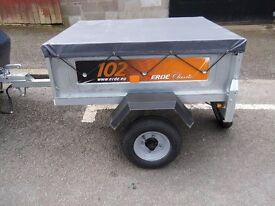 ERDE 102 GALVANISED TRAILER NEW STYLE WITH LARGER LIGHTS