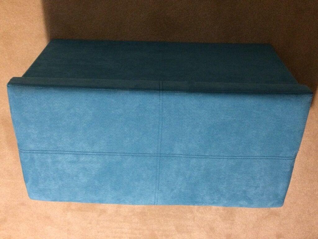 STORAGE BOX PALE BLUE VELOUR MATERIAL, COLLAPSIBLE L60 x W40 x H40cm
