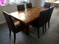 Sheesham Solid Wood Dining Table And 6 Chairs