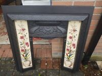 Cast Iron Fireplace inset with insert tiles. £60 ono
