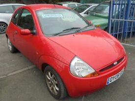 FORD KA 1299cc ZETEC CLIMATE 3 DOOR HATCH 2008-08, ONLY 61K FROM NEW