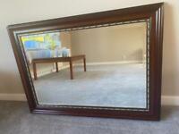 Large mahogany mirror