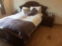 Italian Bedroom Furnitures ( Kingsize Bed, Bedside Cabinets, Wardrobe, Chest of Drawers and Mirror )