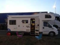 6 berth, 6 travelling seatbelts Motorhome FIAT ELNAGH 2.8L Diesel Manual