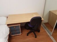 Bed + Matress, Desk + Office Chair and Wardrobe, etc.