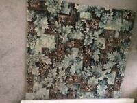 Carpet. Rug size. New Blue/browm floral. Hessian Backed 1002 950 mm. Collectio only