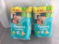 Pampers size 3 Nappies
