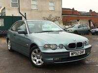 BMW 316Ti Compact 2002 + FULL SERVICE HISTORY + 12 MONTHS MOT + DRIVES SUPERB
