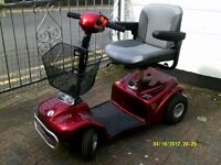 Red Rascal Mobility Scooter 388S