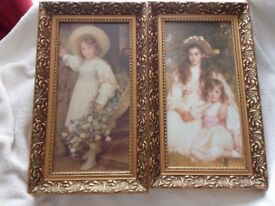 Really Lovely Large Pair of Victorian Style Pictures