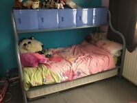 Single Metal Frame Bed With Mattress and storage