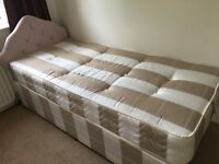 Hardly used Single bed with headboard