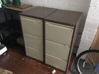 2 x 3 drawer file cabinets