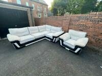 Cord corner sofa,couch,settee,chair,armchair (free delivery🚚🚚🚚)