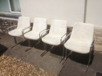Chrome chairs , good quality , vintage retro chairs