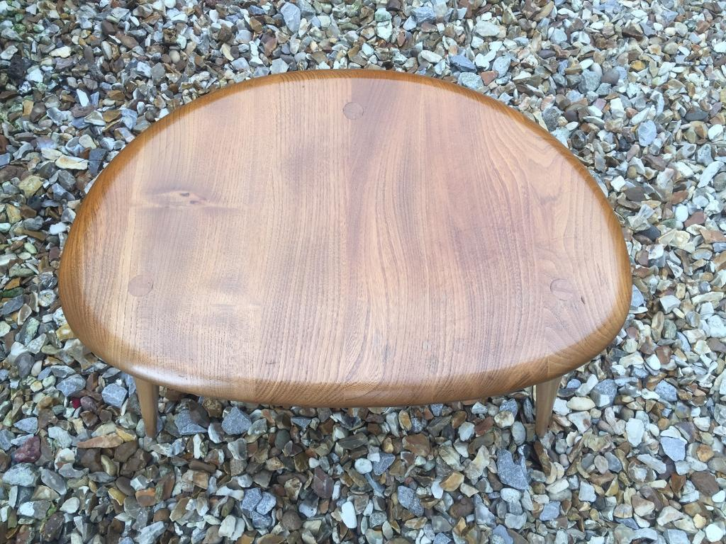 Ercol blonde pebble nest of tables