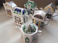 Wade English Life Teapots x 6