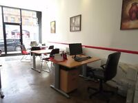Desk spaces to rent - exceptionally bright and spacious office space located at Finchley Road