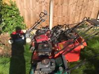 Various petrol mowers for spares or repair