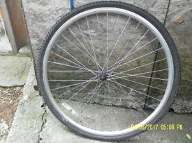 ALLOY FRONT Wheel, 63 cms diameter (26 ins).