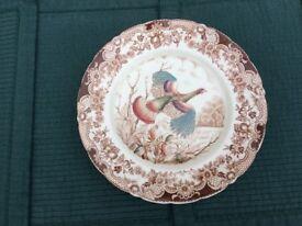 Johnson Bros; Wild Turkeys; 10.5 inch Plate