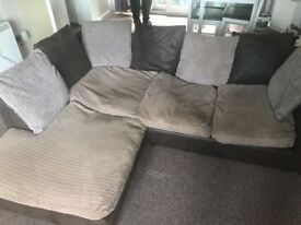 Brown corner sofa for sale good condition £100 need gone asap! Open to offers, pick up only