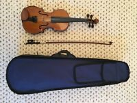 1/4 size Stentor violin, bow and case. Great for a beginner.