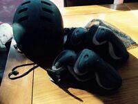 Skate/ bmx helmet and pads