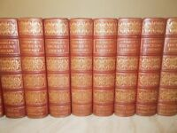 An eighteen volume set of Charles Dickens Deluxe Leather Bound