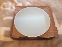 """8 pcs Round Mirror Plate 30cm / 12"""" Round mirror plate with bevelled edge Wedding Table Accessories"""