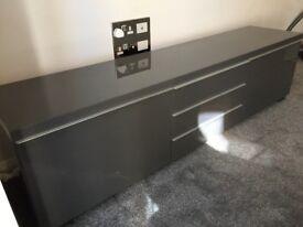 IKEA gloss grey television unit stand like new