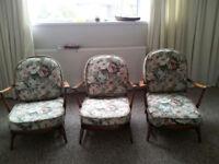 Ercol Grandfather three chairs