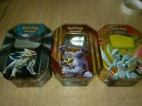 Pokemon card tins 230+ cards rare gx break full art cards included
