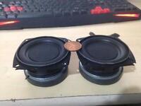 2 x 20w 3'' subwoofers, mini subwoofer speakers