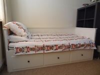 Hemnes Ikea Day Bed with 2 single mattresses. SORRY NOW SOLD
