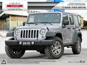 2016 Jeep Wrangler Unlimited Rubicon-NAVI-Leather-2 TOPS-Auto