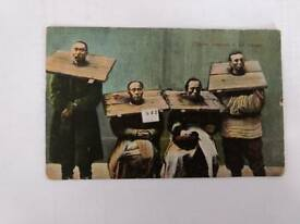 Post card. Chinese prisoners in Canque
