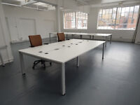 Bench desking £240 per pod of 4 in White by Senator Top quality, last one !