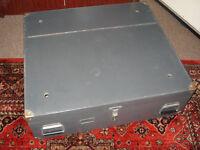 Wooden chest under bed locker army military genuine surplus vintage chest