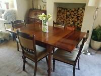 Antique oak table with matchinh chairs