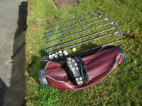 Half set of Golf Clubs and bag - suitable for beginner