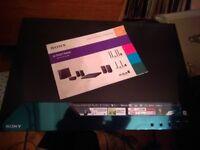 Sony blu ray player with surround sound speakers x 5