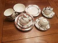 Crown Ducal Orange Tree cups, saucers, small plates & sugar bowl