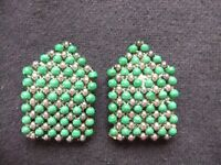 VINTAGE 1930'S DRESS CLIPS A PAIR OF BEADED DRESS CLIPS IN GOOD USED CONDITION READY TO WEAR £8