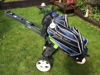 Go-Kart Electric Golf Trolley very good condition with bag