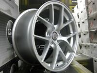"""18"""" Cades Shift Alloy Wheels and Tyres for 5x112 VW Audi Seat Etc"""