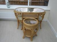 2 seater Breakfast set and occasional table for conservatory.