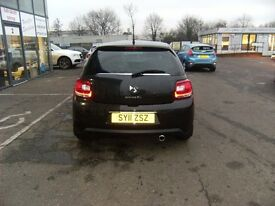 2012 12 CITROEN DS3 1.6 DSTYLE PLUS 3D 120 BHP **** GUARANTEED FINANCE **** PART EX WELCOME ****