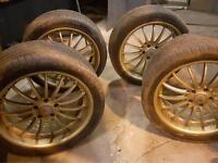 """4 x 20"""" XK8 Alloy wheels & Pirelli tyres"""